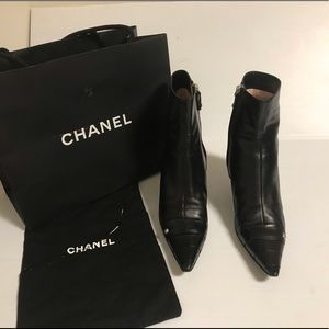 Chanel leather boots size 37.5